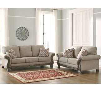 Ace Rent To Own Ashley Furniture Fog Claremorris Sofa Loveseat By