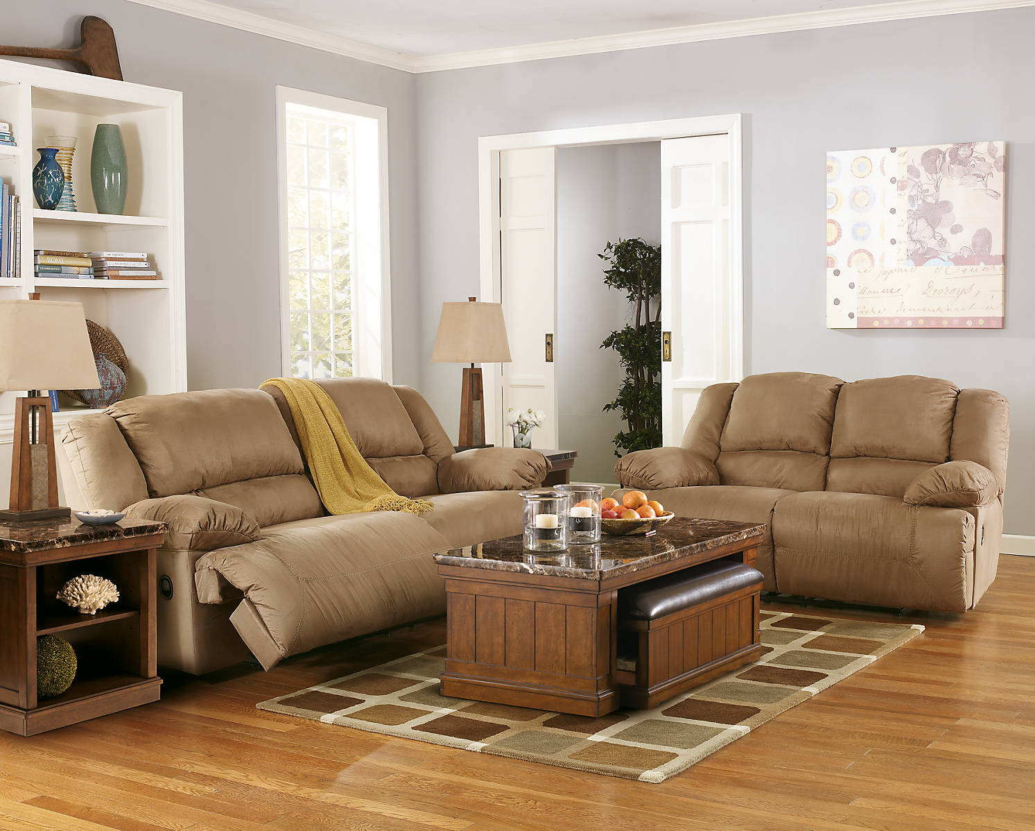 Ace Rent To Own Ashley Furniture Beige Hogan 2 Seat