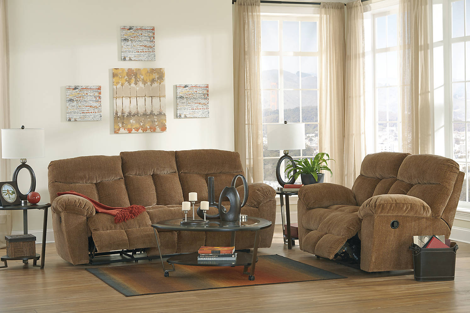 Ace rent to own tulen reclining sofa reclining for Furniture rent to buy
